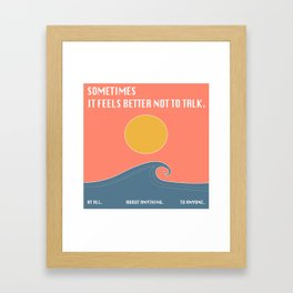 Happy & Alone Framed Art Print