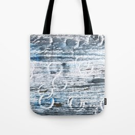 Columbia Blue abstract watercolor Tote Bag