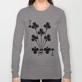 Curator Deck: The 7 of Clubs Long Sleeve T-shirt