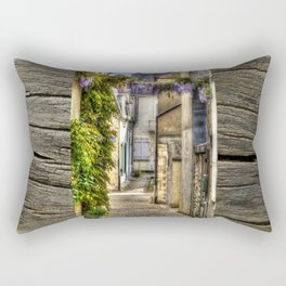 French Village Pouilly-sur-Loire in Spring, France Rectangular Pillow