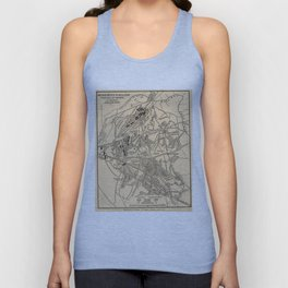 Vintage Battle of Bull Run Map (1886) Unisex Tank Top