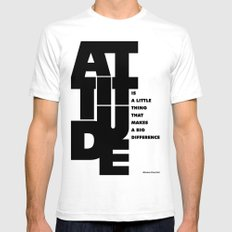 Lab No. 4 - Life Inspirational Quotes Of Attitude Inspirational Quotes Poster White SMALL Mens Fitted Tee
