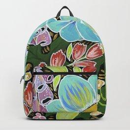Aqua poppies Backpack