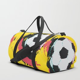 Football ball and red, yellow strokes Duffle Bag