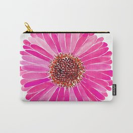 Pink Daisy Carry-All Pouch