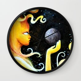 The Sun and Mercury Wall Clock