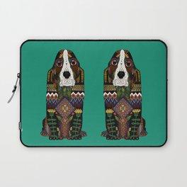 Basset Hound jade Laptop Sleeve