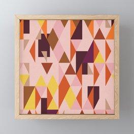 Vintage triangles vibe Framed Mini Art Print