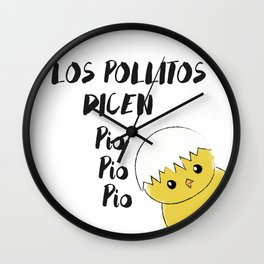 Pollitos Wall Clock