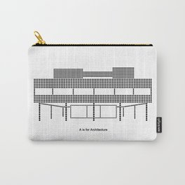 Corbu - A is for Architecture Carry-All Pouch