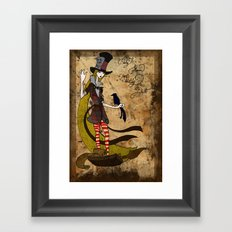 Mad Alice: Why is a Raven like a Writing Desk? Framed Art Print