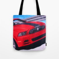 boss Tote Bags featuring Boss by Brian David