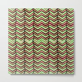 Zig Zag Multicolored Ethnic Pattern Metal Print