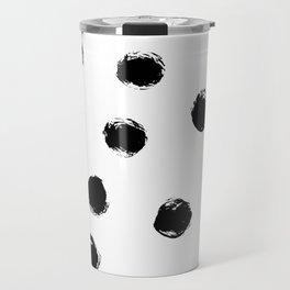 Black Polka Dots I Travel Mug