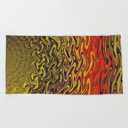 Ripples in Indian Summer Beach Towel