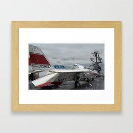 Tom Cat, Fighter Jet, Intrepid Flight Deck Framed Art Print