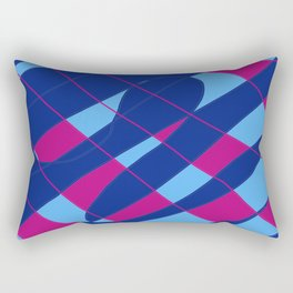 AbstractBlue Rectangular Pillow