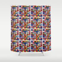 europe Shower Curtains featuring Europe/Europa by MehrFarbeimLeben