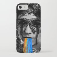 sylvia plath iPhone & iPod Cases featuring Sylvia II by DIVIDUS