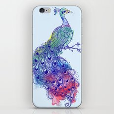 Calm Blue Peacock iPhone & iPod Skin