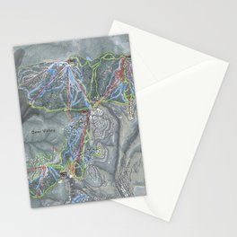 Deer Valley  Resort Trail Map Stationery Cards