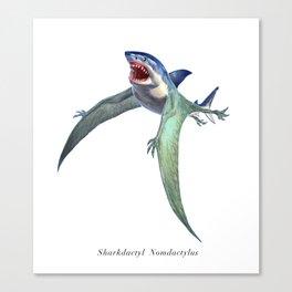 Sharkdactyl Nomdactylus Canvas Print