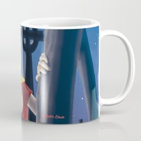 buffy the vampire slayer Mugs featuring Buffy by TeeNa Stone