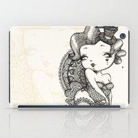 burlesque iPad Cases featuring Chubby Burlesque by Sabrina Eras
