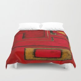 Detached, Abstract Shapes Art Duvet Cover