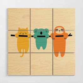 Hang In There Wood Wall Art