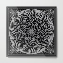 Wind Spirit (Gray) Metal Print