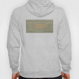 Vintage Lighthouse Map of Puerto Rico (1898) Hoody