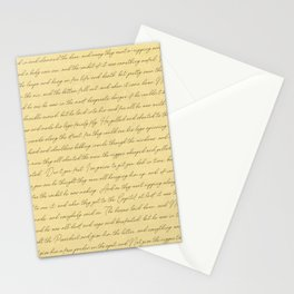 Manuscript Stationery Cards