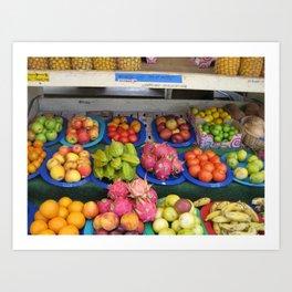 North Shore Fruit Stand Art Print