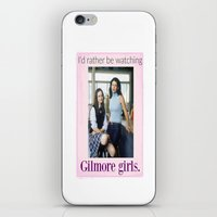 gilmore girls iPhone & iPod Skins featuring I'd rather be watching Gilmore girls.  by Boy-Named Girl