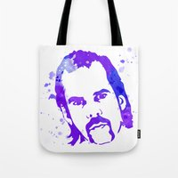 nick cave Tote Bags featuring NICK CAVE by BIG Colours