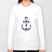 anchors Long Sleeve T-shirts featuring anchors by Manoou
