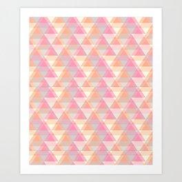 Triangle Reflections Art Print