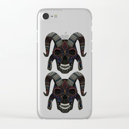 demon skull ochre Clear iPhone Case