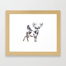 deer & owl Framed Art Print