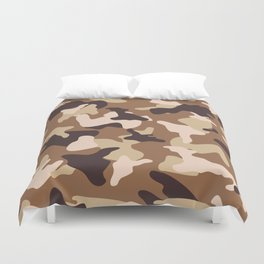 Desert camo sand camouflage army pattern Duvet Cover
