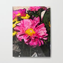 The Pink and Yellow Flower 4 Metal Print