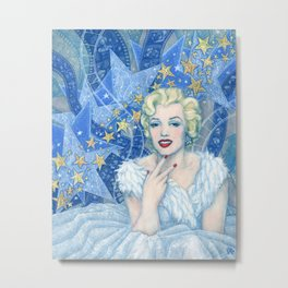 Marilyn, Old Hollywood, celebrity portrait Metal Print