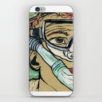 kevin russ iPhone & iPod Skins featuring Kevin Search by K. Fry Illustration