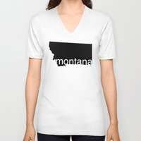 montana V-neck T-shirts featuring Montana by Isabel Moreno-Garcia