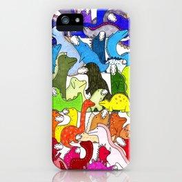 Rainbow Dinosaur Gradient iPhone Case