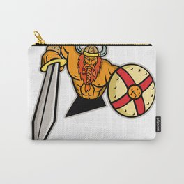 Viking Warrior Sword and Shield Mascot Carry-All Pouch
