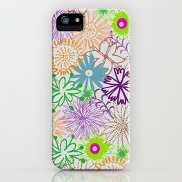 Drawn Flowers iPhone Case