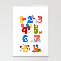 numbers Stationery Cards featuring numbers by Alapapaju
