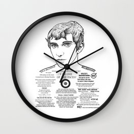 Jimmy - 'I am one of the faces' Wall Clock